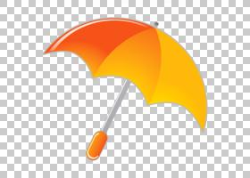 伞股票摄影图标,黄色卡通伞PNG剪贴画卡通人物,橙色,漫画,卡通,免