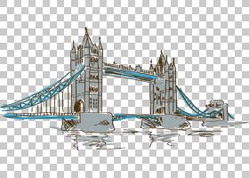 伦敦桥塔伦敦塔桥,手,画塔桥PNG剪贴画水彩画,建筑,摄影,伦敦,手