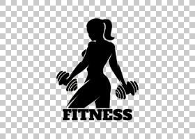 体育健身中心剪影,女子哑铃PNG剪贴画业务女人,健身,手,徽标,电脑