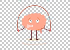 体育锻炼脑损伤认知训练跳绳,卡通大脑健身PNG剪贴画卡通人物,游