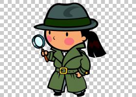 侦探内容放大镜,假设的PNG剪贴画帽子,演示文稿,版权,虚构人物,卡