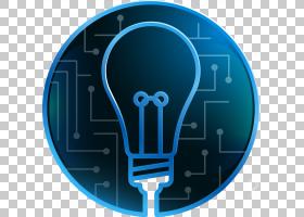 信息蓝色,科学灯泡PNG剪贴画信息图表,蓝色,灯泡,卡通,封装PostSc