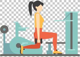 健身中心欧几里德重量训练,卡通女子健身房PNG剪贴画卡通人物,商