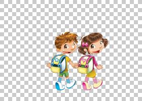 全国小学,卡通儿童PNG剪贴画卡通人物,孩子,人民,友谊,儿童,蹒跚