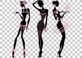 内衣时装店内衣,模特人物设计PNG剪贴画卡通人物,名人,卡通,剪影,