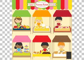 农民市场市场,跳蚤市场的PNG剪贴画儿童,食品,文本,卡通,材料,艺
