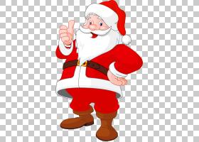 准备好,使用圣诞老人s,透明圣诞老人,圣诞老人PNG剪贴画手,剪贴画