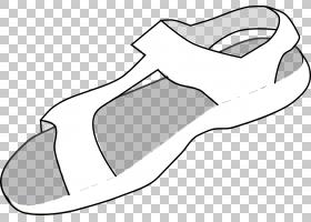 凉鞋卡通翻转,人字拖鞋,白色凉鞋PNG剪贴画白色,黑色白色,单色,夏