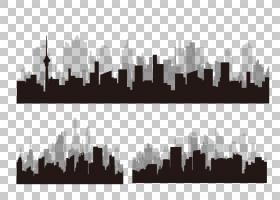 剪影建筑城市,城市剪影PNG剪贴画动物,建筑,文本,海报,男人剪影,