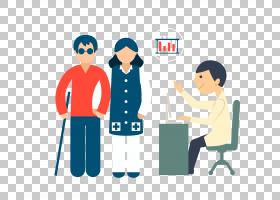 医疗保健卡通医院医生的访问,简单的图形病人访问医生PNG剪贴画孩