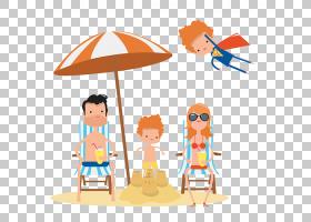 卡通,卡通海滩度假村PNG剪贴画卡通人物,海滩,儿童,橙色,蹒跚学步