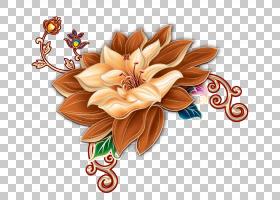 中国重阳节花,中国式莲花PNG剪贴画插花,中式风格,中国,卡通,丰富