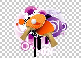 乒乓球运动,乒乓球照片PNG剪贴画紫色,紫罗兰色,文本,摄影,海报,