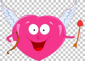 丘比特心情人节,红心丘比特PNG剪贴画爱,心,脊椎动物,心,弓,破碎