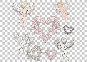 丘比特的心,丘比特材料PNG剪贴画爱,png材料,对称性,头,颜色,丘比