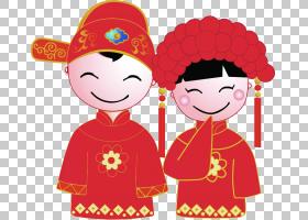 中国婚姻幸福新娘婚礼,卡通新娘和新郎婚礼PNG剪贴画爱,孩子,结婚