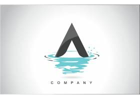 字母A形象创意LOGO设计图片
