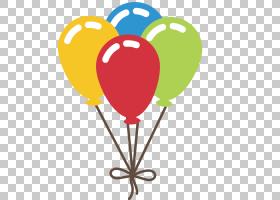 Balloon Euclidean,挂小气球PNG剪贴画心,生日快乐矢量图像,royal