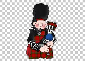 风笛苏格兰鼓,鼓PNG剪贴画格子呢,卡通,虚构人物,艺术,管乐队,装