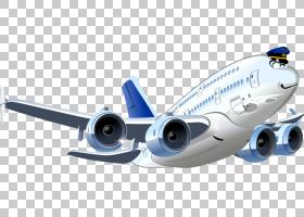 飞机卡通,卡通飞机PNG剪贴画漫画,运输方式,卡通,运输,封装PostSc