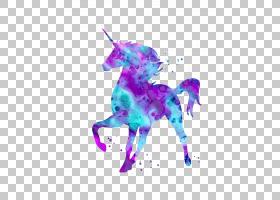 独角兽神话是独角兽,紫色和蓝色独角兽PNG剪贴画紫色,紫罗兰色,et
