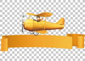 飞机飞机,标签创意卡通海报宣传材料PNG剪贴画卡通人物,标签,橙色