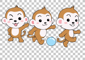 猴子卡通海报,可爱的嘻哈猴子PNG剪贴画哺乳动物,猫像哺乳动物,动