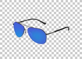 飞行员太阳镜Randolph工程时尚配饰,太阳镜PNG剪贴画蓝色,镜头,矩