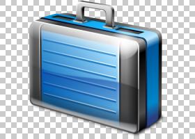 电动蓝色手提箱,公文包,灰色和蓝色手提箱卡通PNG剪贴画蓝色,手提