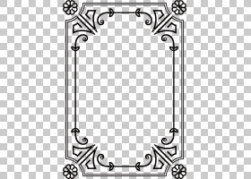电线,框架模型卡通黑色和白色,卡通黑色框架装饰PNG剪贴画框架,角