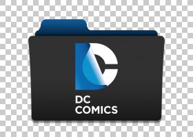 电脑配件品牌标志,DC漫画,DC漫画文件夹标志PNG剪贴画漫画,漫画书