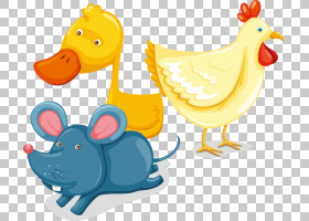 电脑鼠标卡通,小鸡和鸭农场动物海报素材PNG剪贴画动物,摄影,鼠标