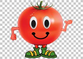 番茄水果蔬菜,水果和蔬菜,甜瓜搞笑笑脸PNG剪贴画杂项,食品,笑脸,