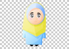 盖头伊斯兰教穆斯林儿童情感,头巾PNG剪贴画蓝色,儿童,脸,蹒跚学