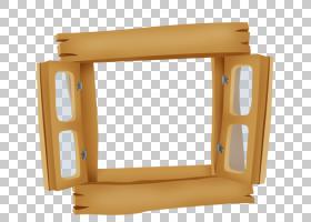 窗口卡通绘图,卡通彩绘木窗PNG剪贴画水彩画,卡通人物,家具,矩形,