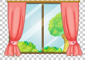 窗帘皇室 - ,卡通窗口PNG剪贴画卡通人物,玻璃,室内设计,摄影,气
