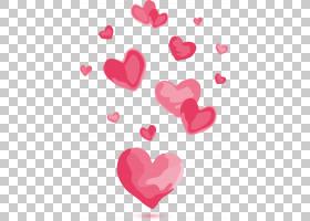 红色画爱创意,粉红色的心PNG剪贴画爱,水彩画,心,爱情侣,爱情鸟,