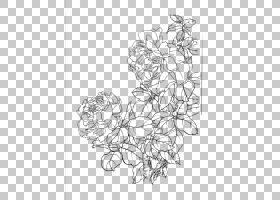 绘Rosa chinensis Gongbi牡丹牡丹,花卉艺术品PNG剪贴画白色,中式