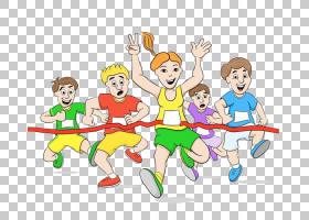绘制卡通,跑者在终点线PNG剪贴画杂项,儿童,食品,手,蹒跚学步,男