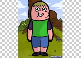 绘制卡通网络电视节目,如何绘制克拉伦斯PNG剪贴画脊椎动物,草,卡