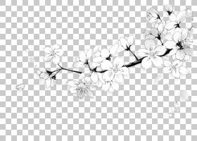 绘制黑色和白色漫画心,漫画PNG剪贴画白色,头发配件,分支机构,单