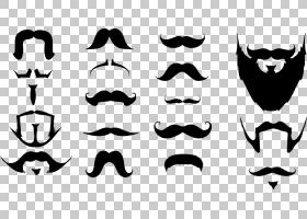 胡子,各种形状胡子PNG剪贴画人民,徽标,单色,形状,颜色,卡通,黑色