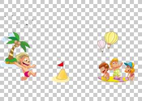 绘图海滩,儿童玩PNG剪贴画国旗,儿童,摄影,人民,气球,电脑壁纸,男