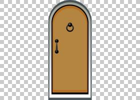 绘图门卡通,门PNG剪贴画角,家具,矩形,橙色,房间,打开门,免版税,
