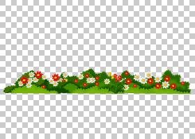 花,鲜花与草透明,白色和红色的花动画PNG剪贴画叶,圣诞节装饰,洋