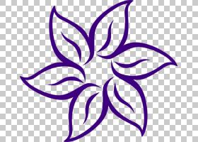 花黑色和白色,卡通百合花PNG剪贴画紫色,白色,叶,紫罗兰色,对称性
