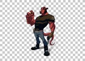 地狱男孩卡通超级英雄,地狱男孩PNG剪贴画虚构人物,虚构人物,devi