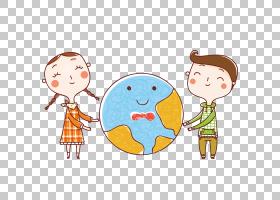 地球日随笔,介绍地球儿童PNG剪贴画孩子,友谊,男孩,虚构人物,卡通
