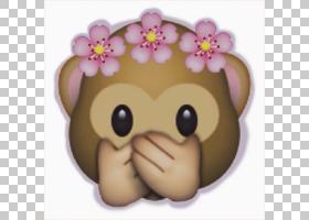 堆Poo表情符号贴纸花猴子,表情符号PNG剪贴画脸,头,卡通,鼻子,登