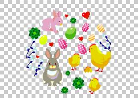 复活节兔子,复活节鸡PNG剪贴画食品,假期,生日快乐矢量图像,鸡翅